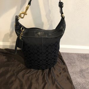 Coach XL Signature Bleecker Duffle Bag in Black